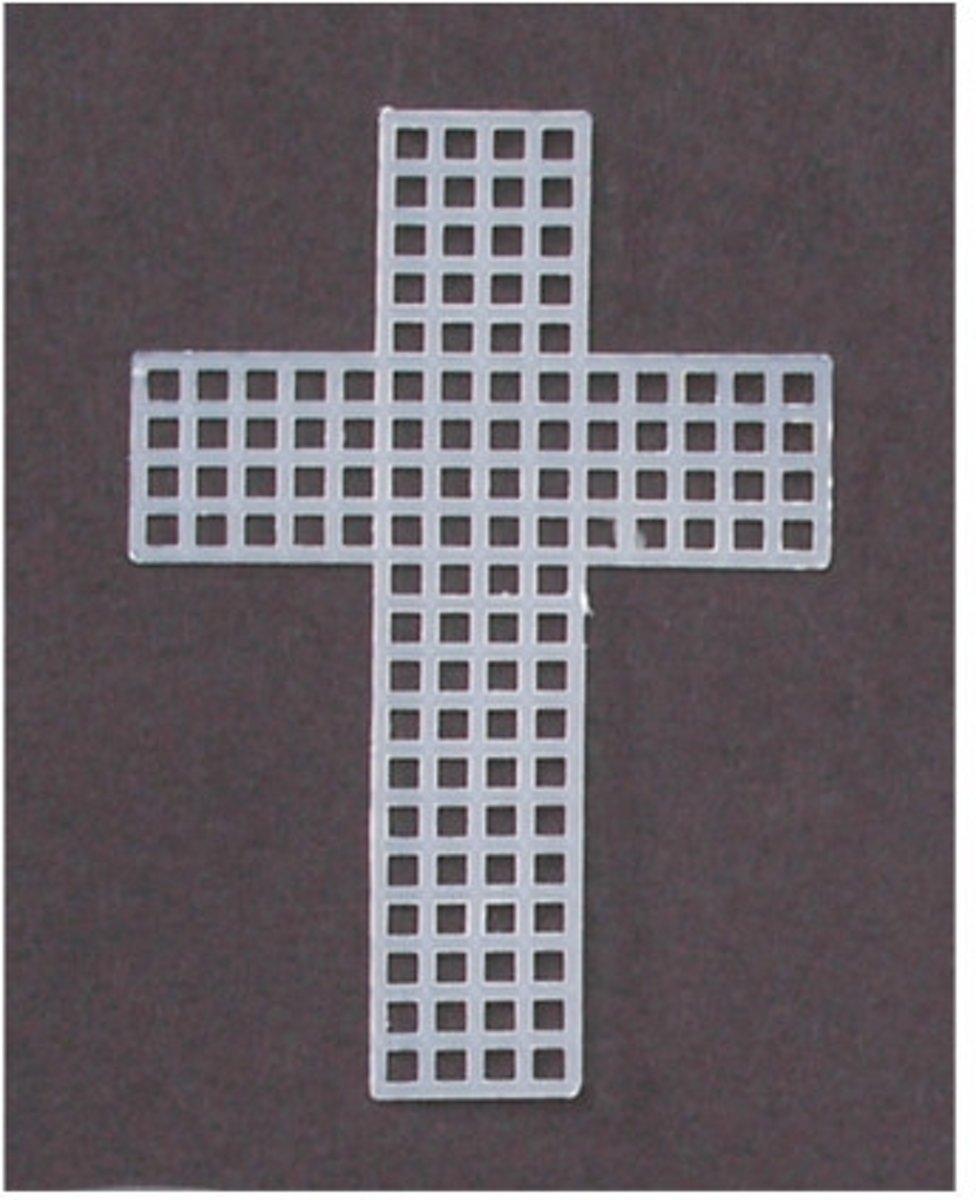 Afbeelding van product Plastic stramien 7,5cm x10 kruis