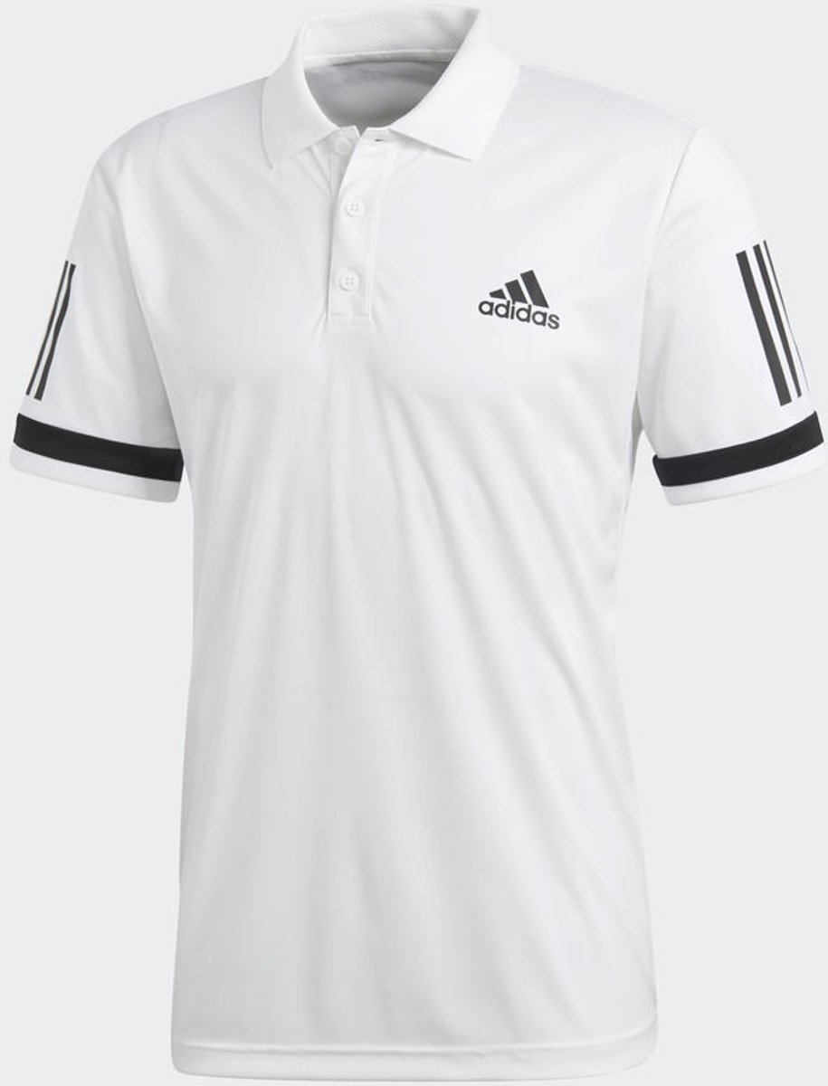 | adidas Club 3 Stripes Polo Tennis polo Heren White