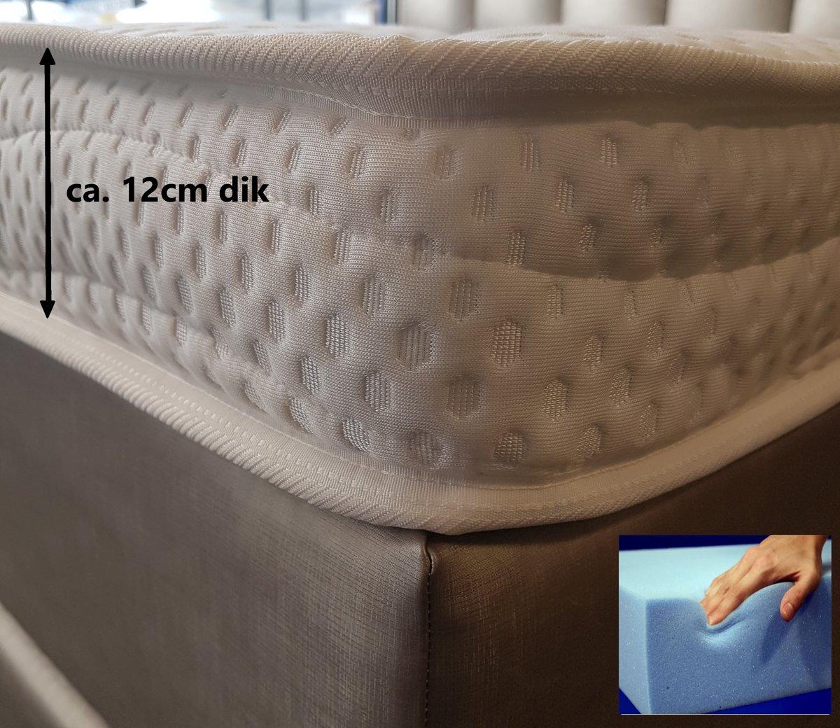 Tencel Topper XXL 180x220 Koudschuim HR55 12 cm Dik