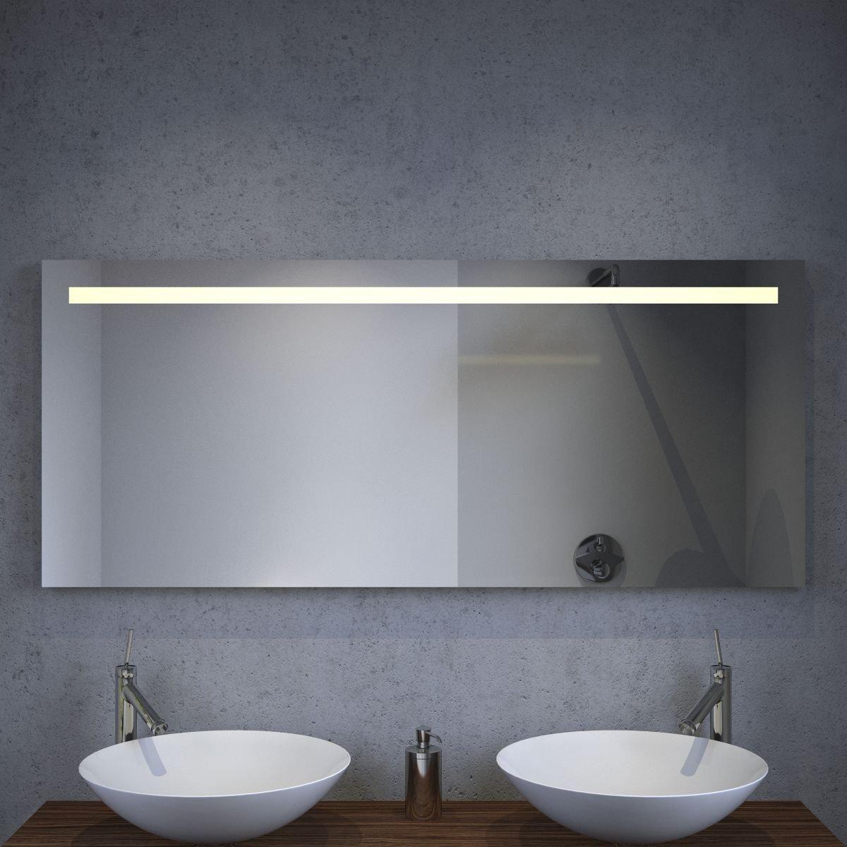 bol.com | LED badkamer spiegel met verwarming en sensor 140x60 cm