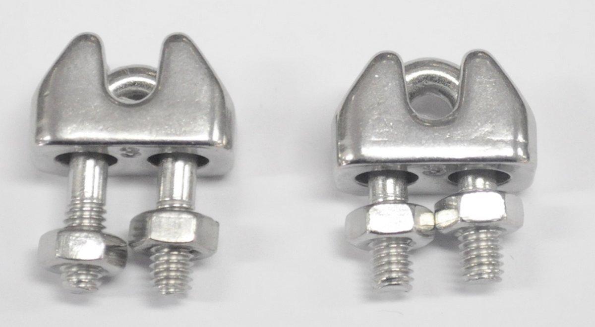 Staaldraadklem 3mm R.V.S. A4