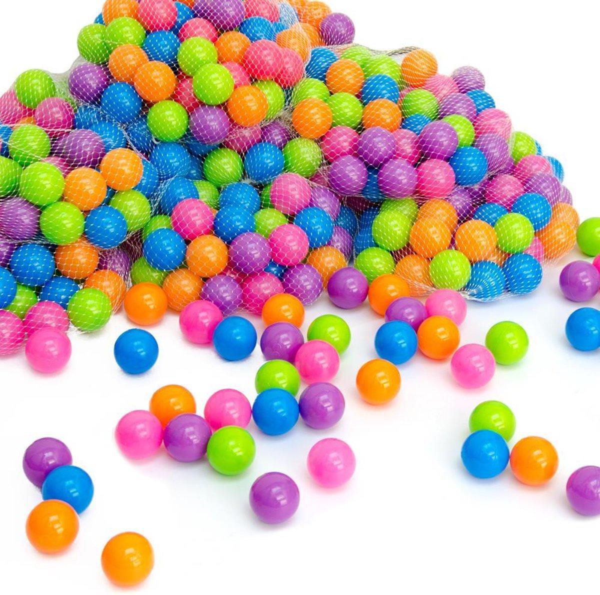 100 ballenbadballen 5,5cm pastelkleuren