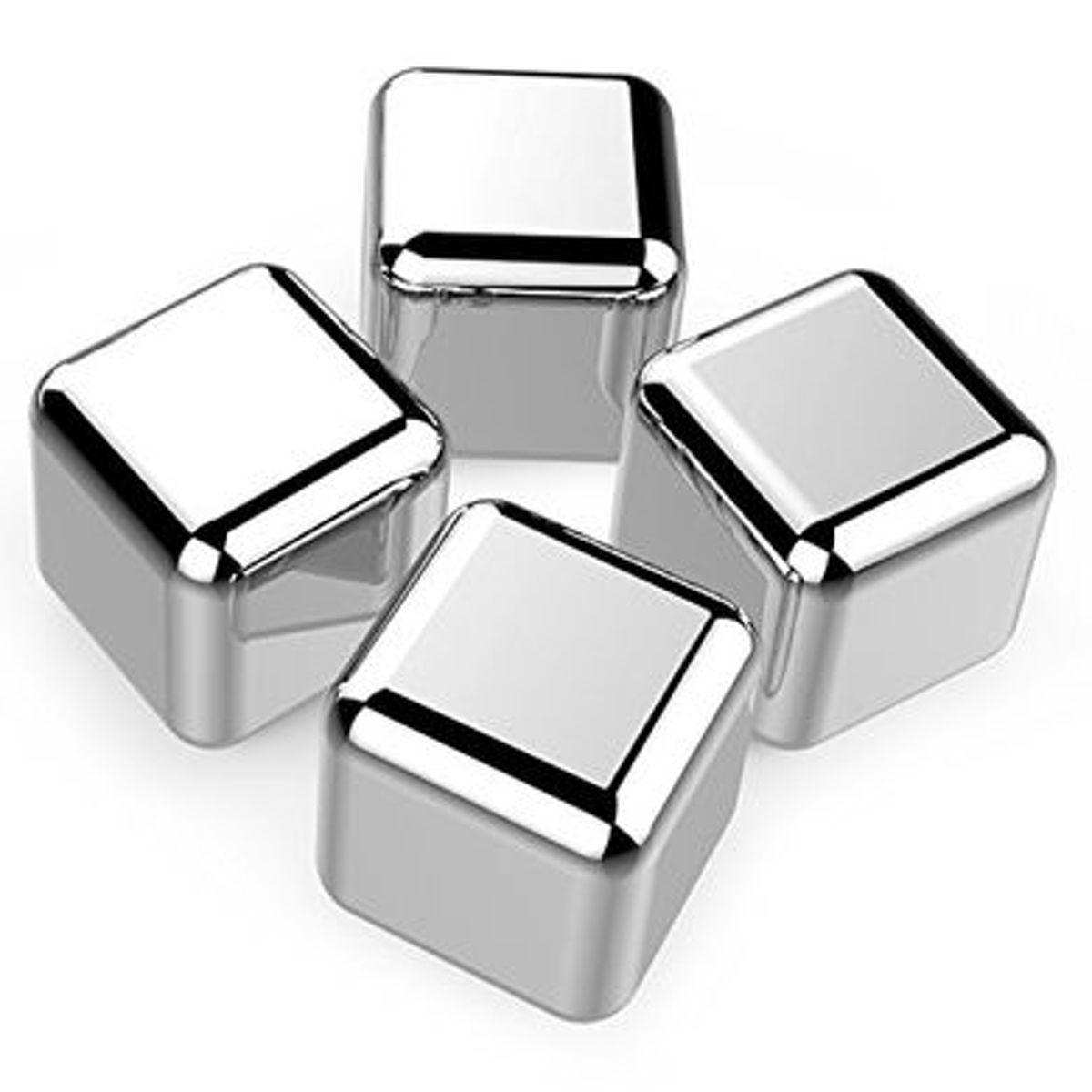Contento Ice Cubes IJsblokjes - RVS - Set van 4 kopen