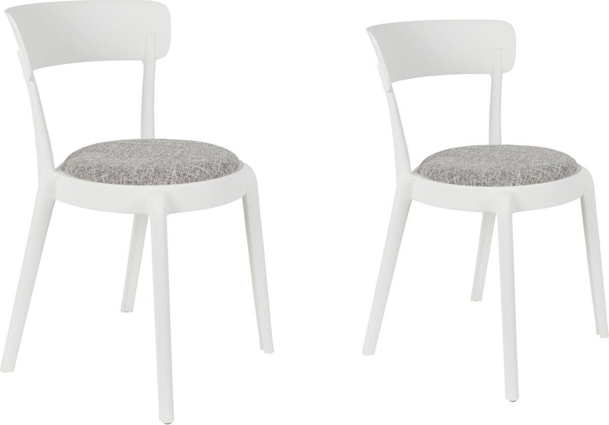 Bol.com feliz hoppe comfy eetkamerstoel wit set van 2