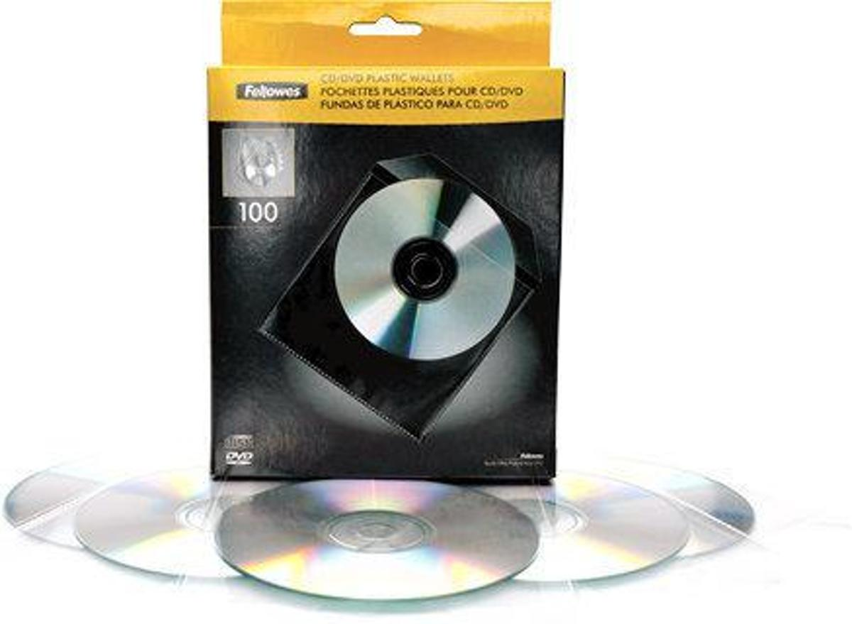 CD PLASTIC ENVELOPES 100PK