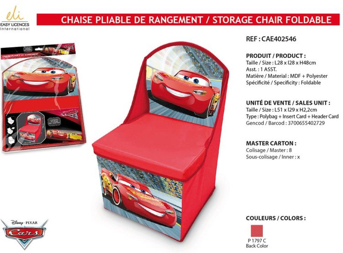Multi Opbergkast Cars.Bol Com Disney Cars Opbergstoel Opbergbox