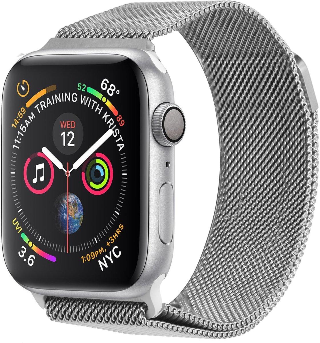Zilveren Milanese design watch band voor de Apple Watch 40 / 38 mm kopen