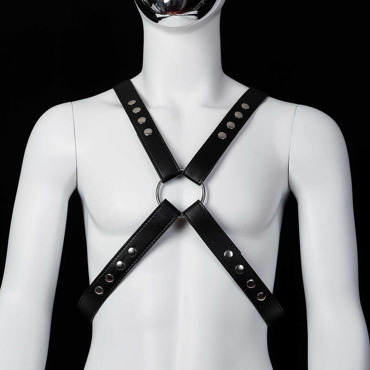 Foto van Banoch - Chest harness Raaf - pu leren harnas voor man
