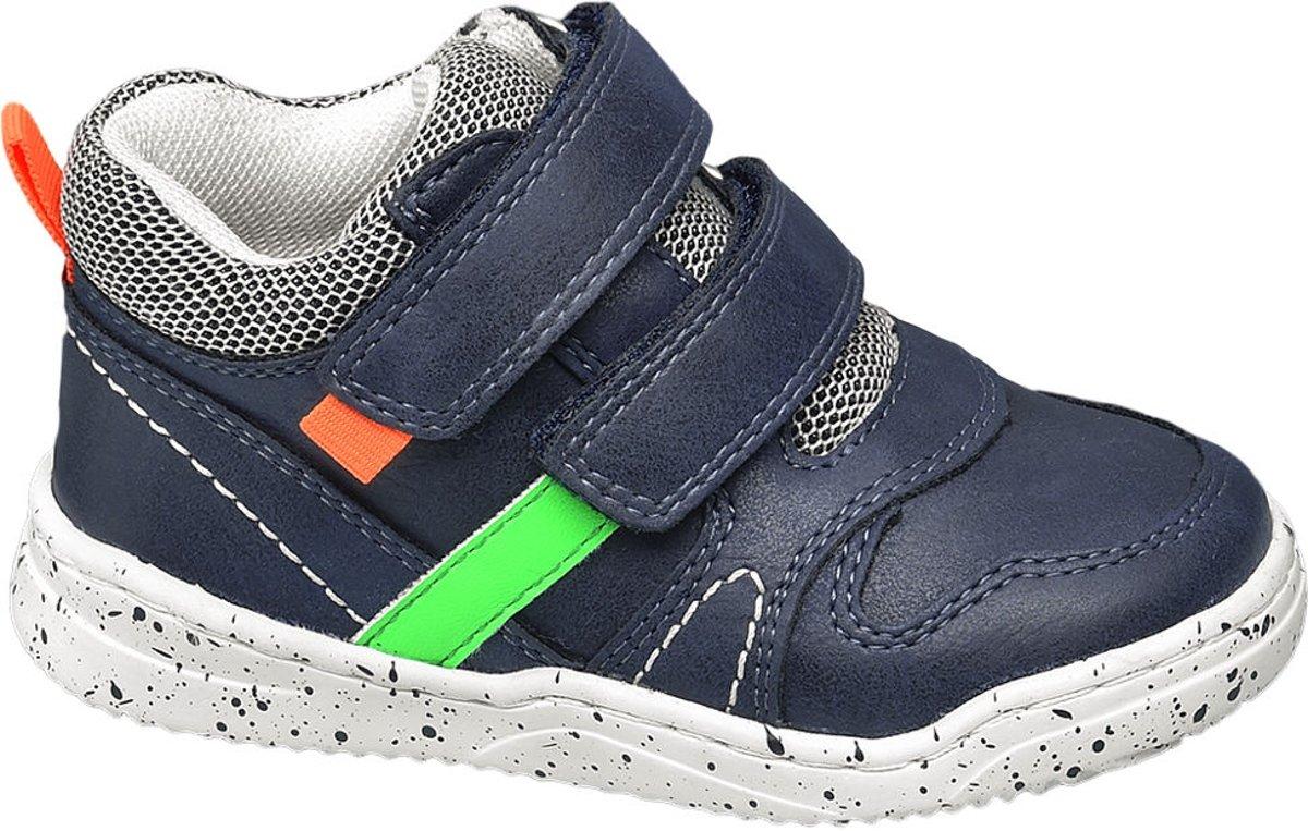 Bobbi-Shoes Kinderen Blauwe halfhoge sneaker klittenbandsluiting - Maat 25 kopen