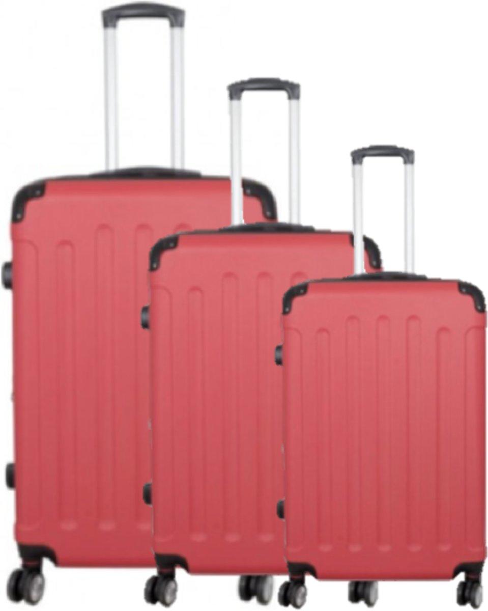 3 delig koffer set tavelsuitcase 191 Liter rood kopen
