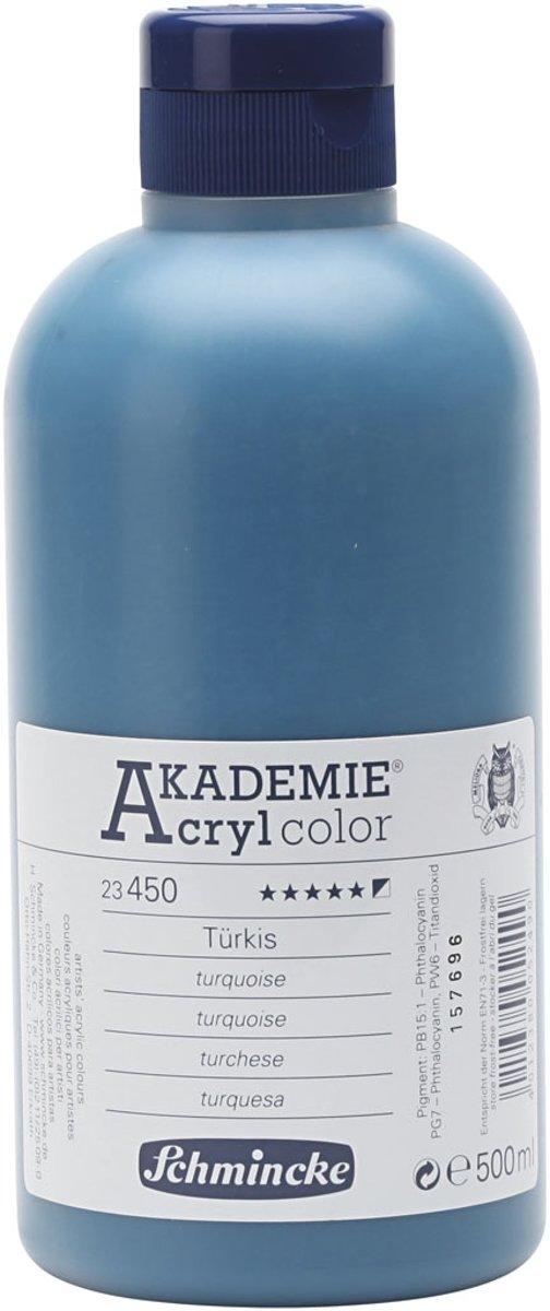 Afbeelding van product Schmincke AKADEMIE® Acryl color, semi-opaque, 500 ml, turquoise (450)
