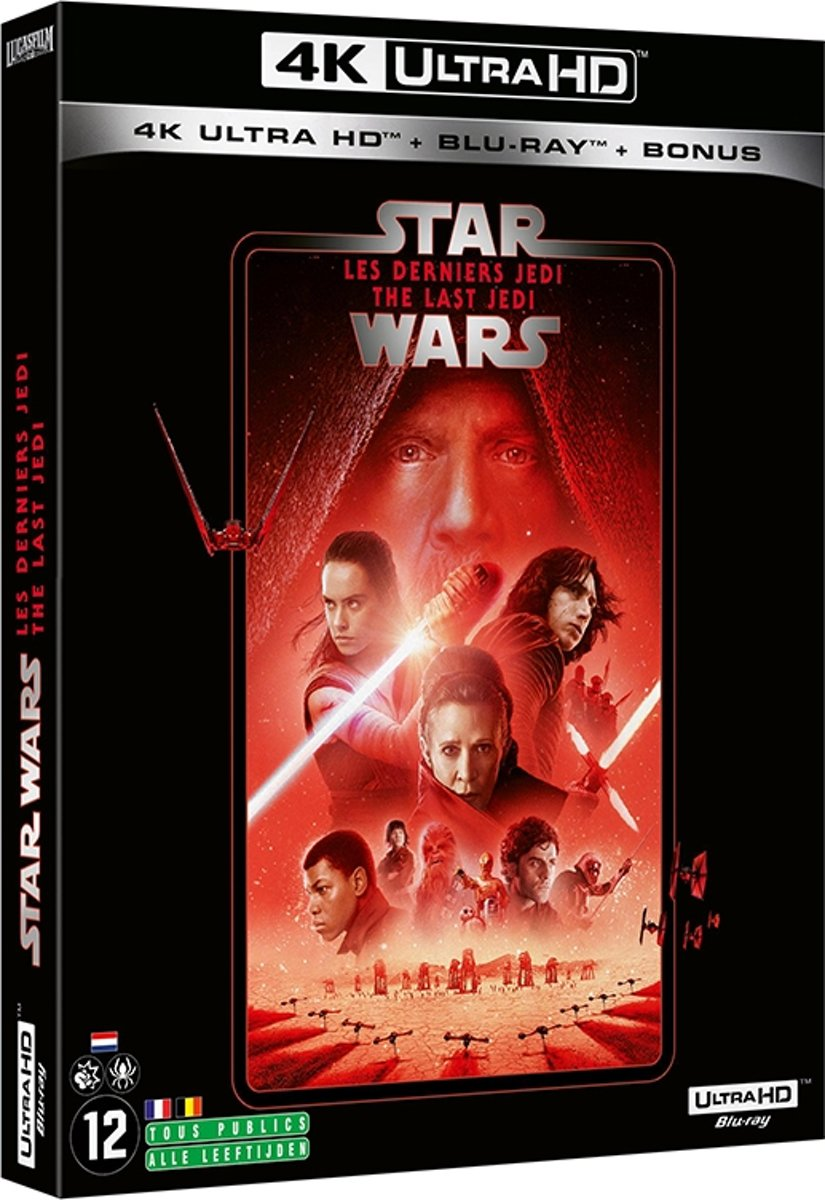 Star Wars Episode VII: The Last Jedi (4K Ultra HD Blu-ray) (Import zonder NL)-