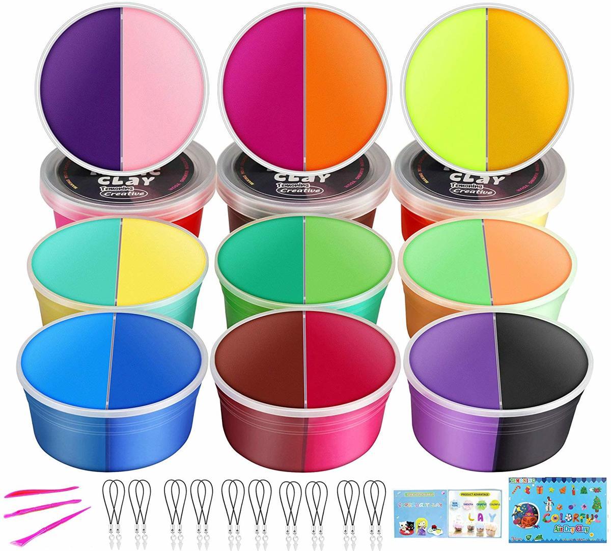 Afbeelding van product Luchtdrogende klei dubbele kleuren