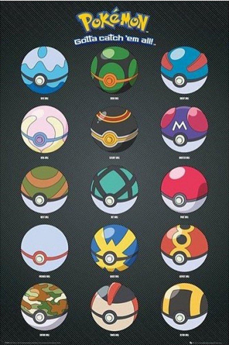 Pokemon poster Pokeballs kopen