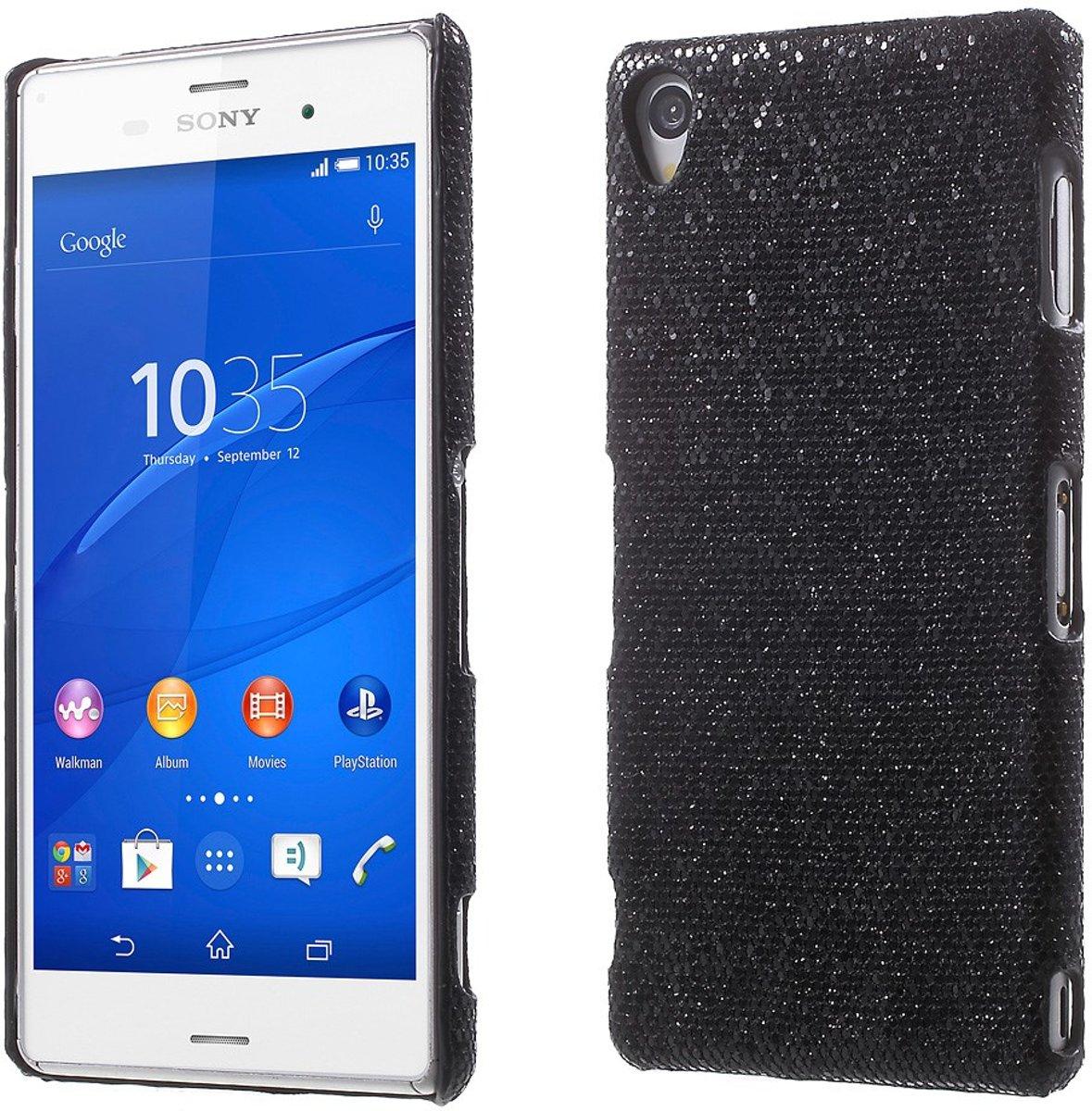 Image of Mesh - Sony Xperia Z3 - Hoesje Back Case Hard Glitter Zwart (8718923049526)