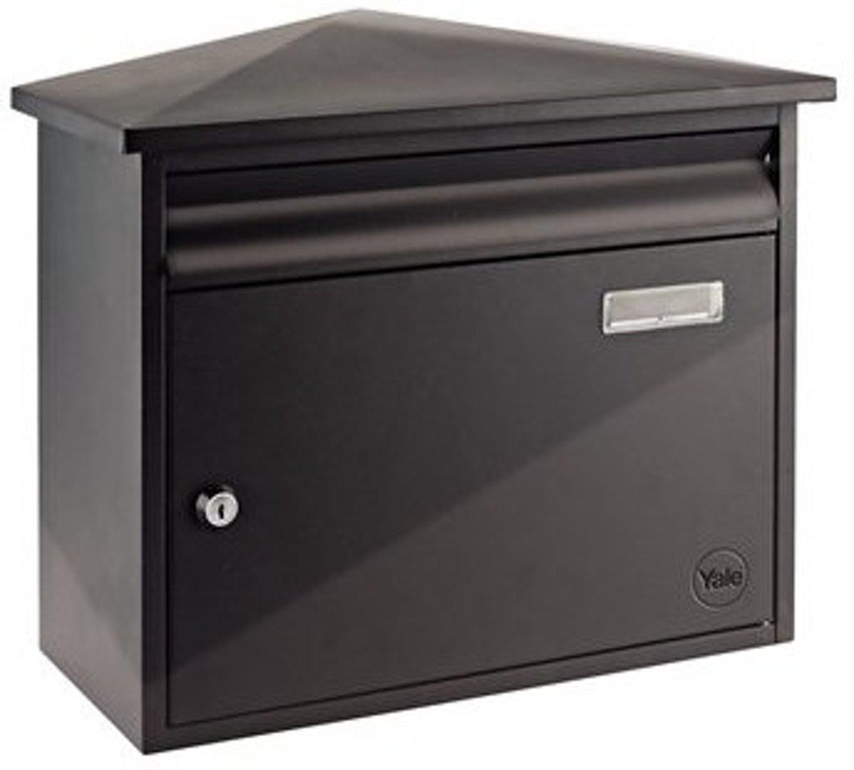 Yale Texas brievenbus zwart staal