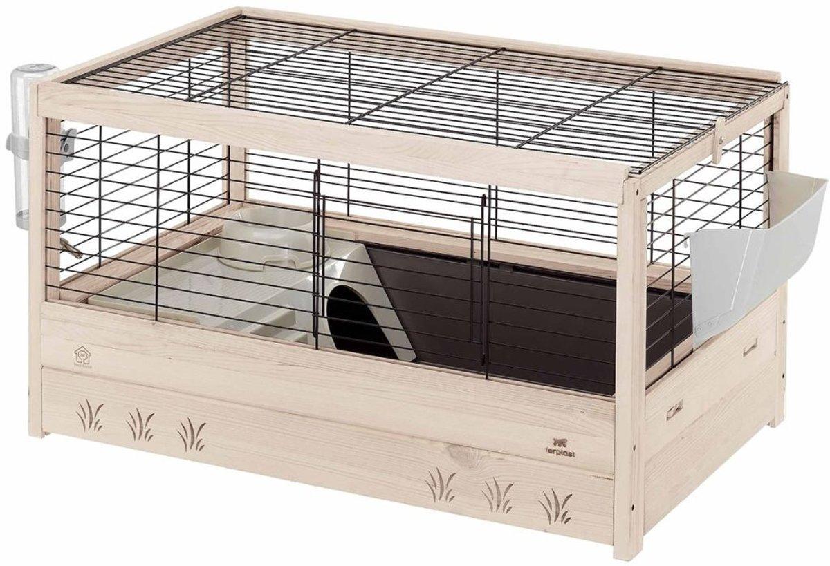 Ferplast cavia / konijnenkooi arena zwart 82x52x45,5 cm
