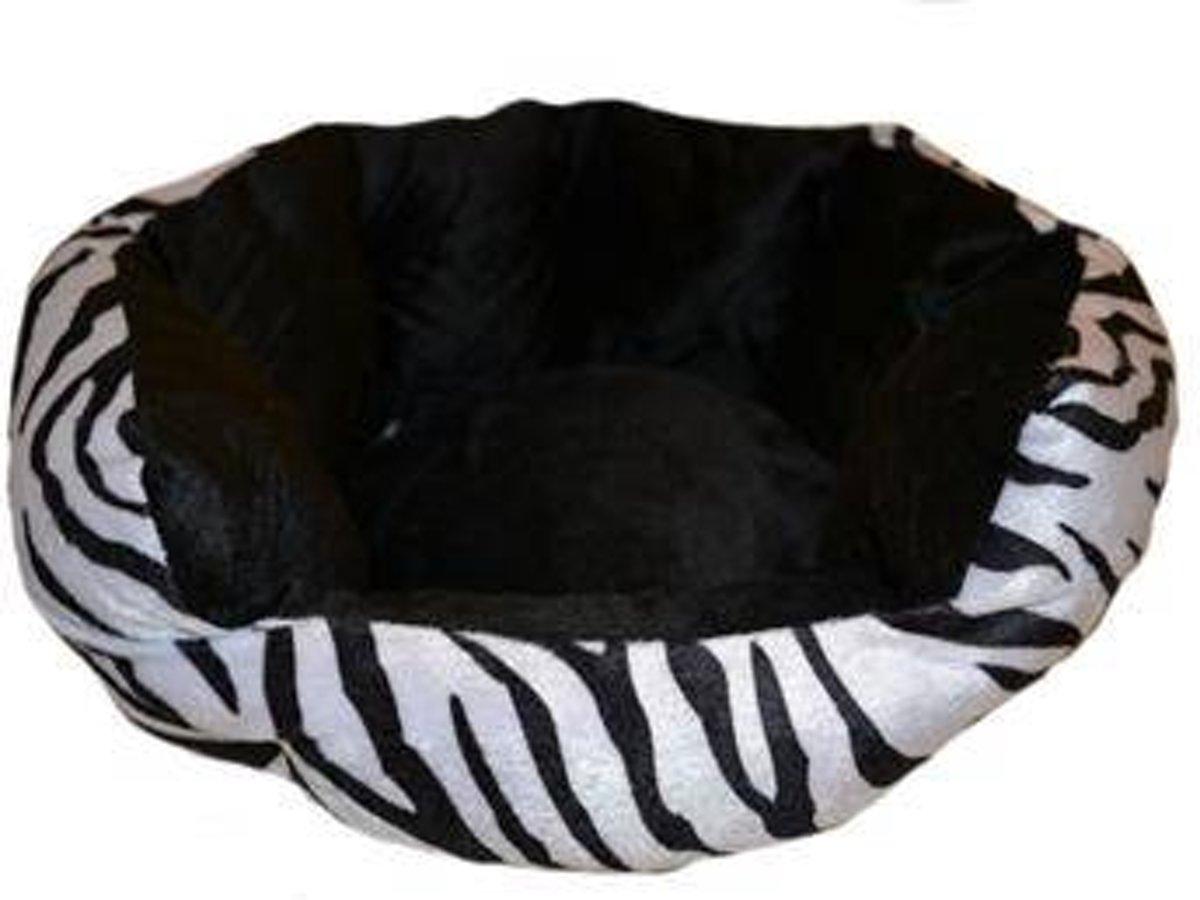 Kattenmand velvet look zebra 38x36x18 cm
