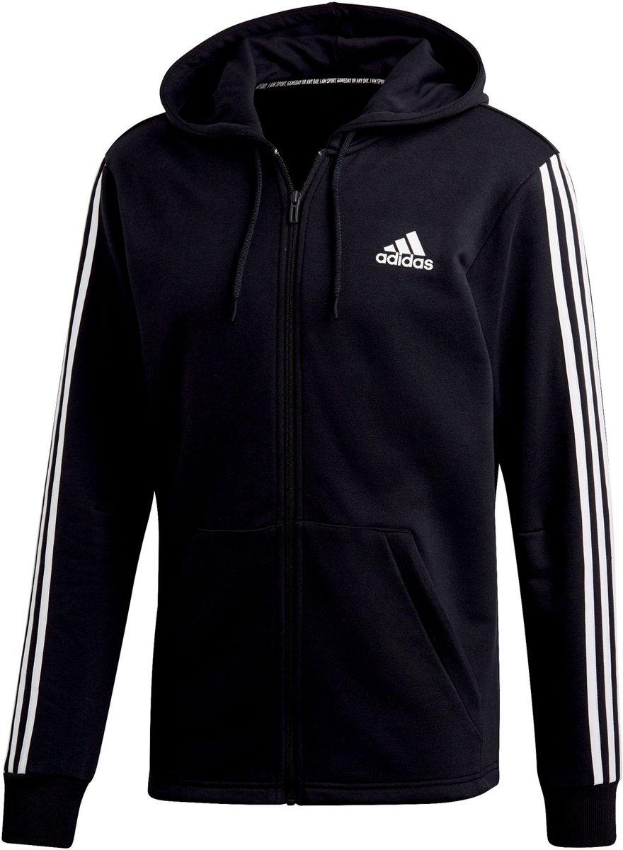 adidas 3-Stripes  Sportvest - Maat M  - Heren - zwart/wit kopen