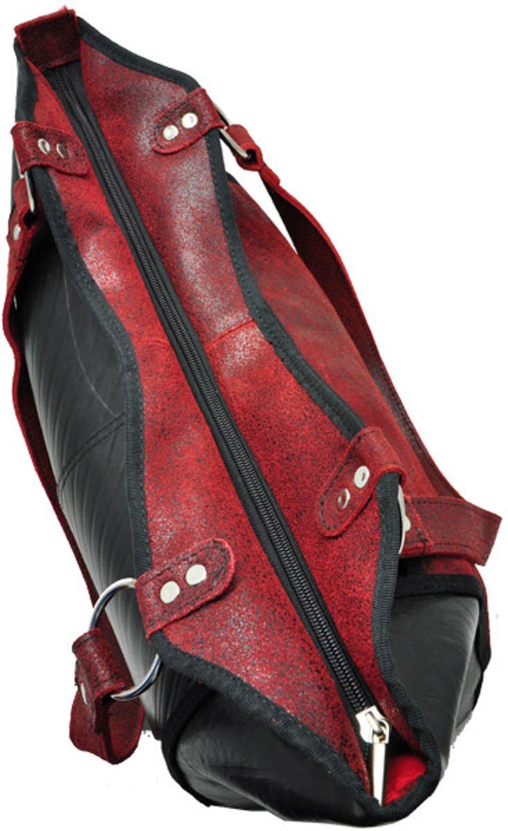 eae56b24139 bol.com | Made in Barrio Merenque's shopper - Werktas - Leer - Rood