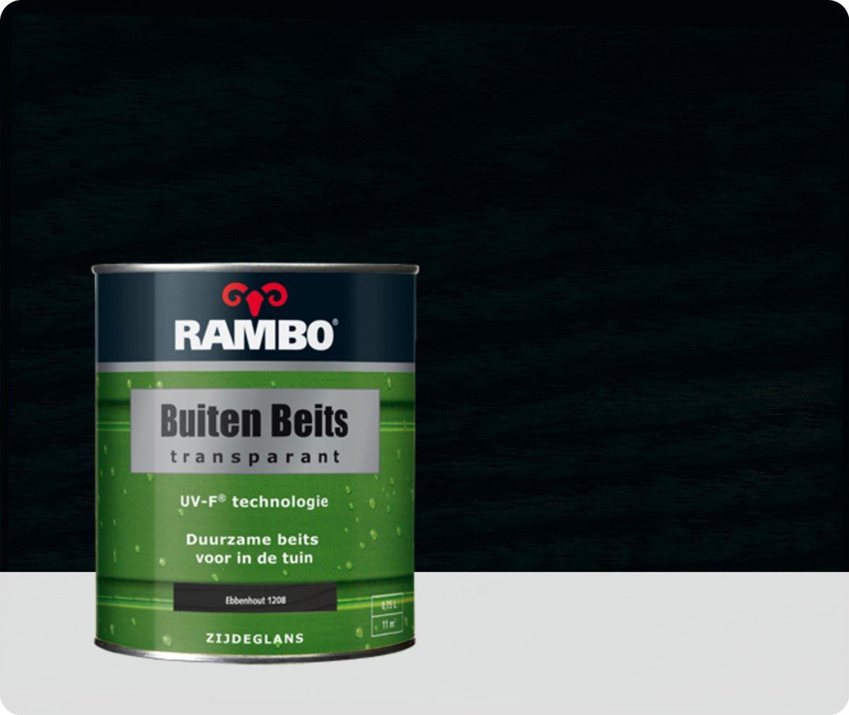 Rambo Buiten Beits Transparant - 0,75 liter - Ebbenhout