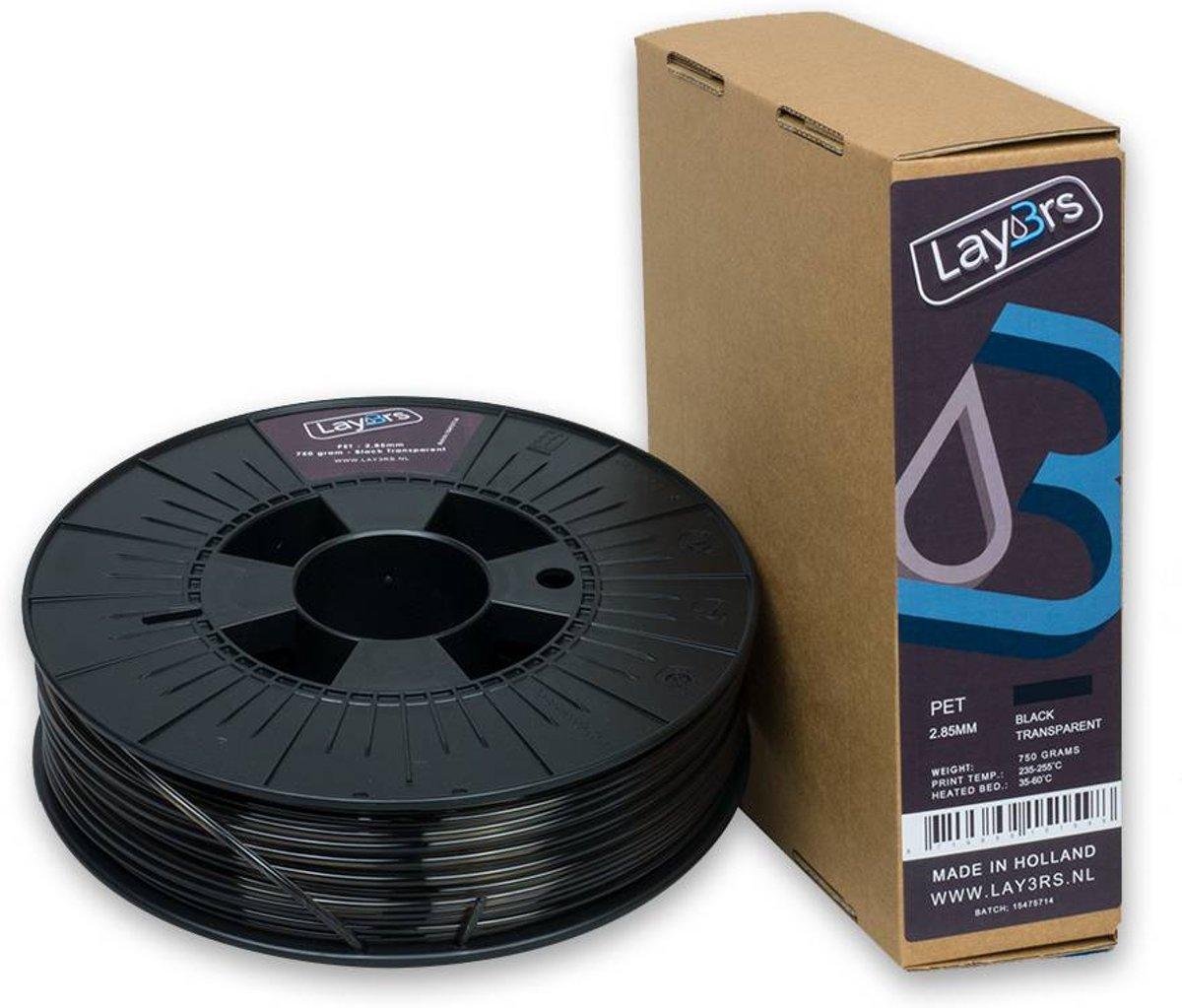 Lay3rs PET-G Black Transparent - 2.85 mm