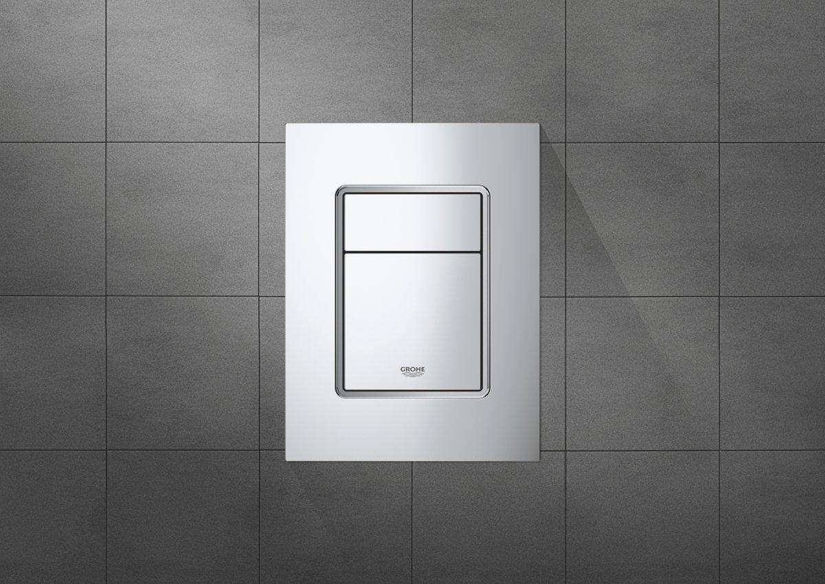 Rechthoekig Ontwerp Badkamer : Bol.com grohe skate s cosmopolitan bedieningspaneel toilet dual