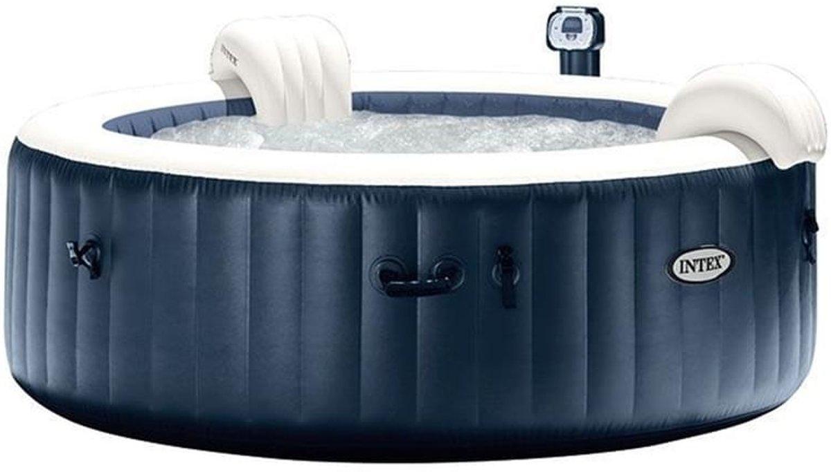 Intex Navy Bubble Jacuzzi met hardwatersysteem - Opblaasbare Jacuzzi