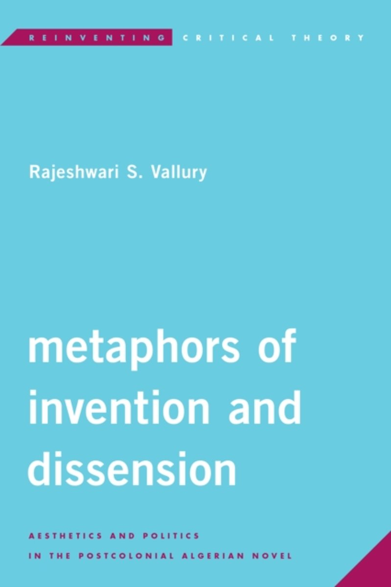 bol.com | Metaphors of Invention and Dissension | 9781786603166 |  Rajeshwari S. Vallury | Boeken