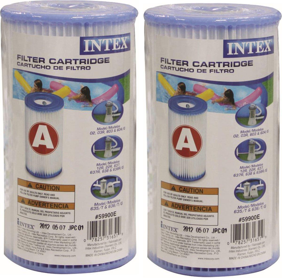 Filterpatroon zwembad 20 cm hoog - 10,5 cm diameter per2 stuks