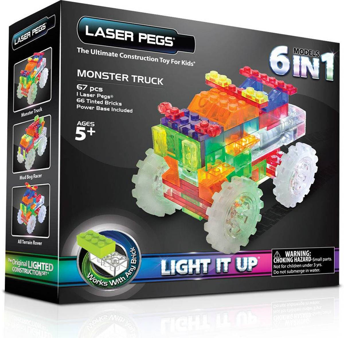 Laser Pegs Monster Truck 6 in 1