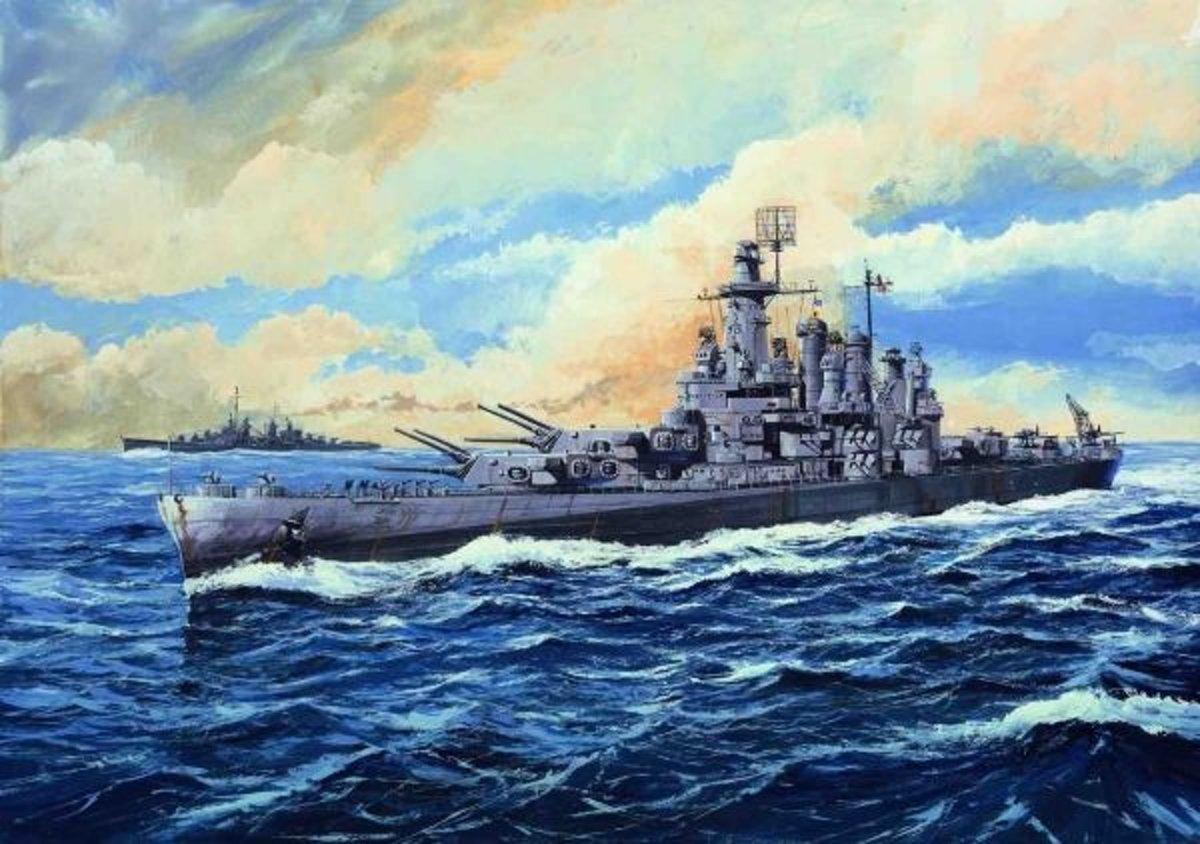 Boats USS Washington BB-56