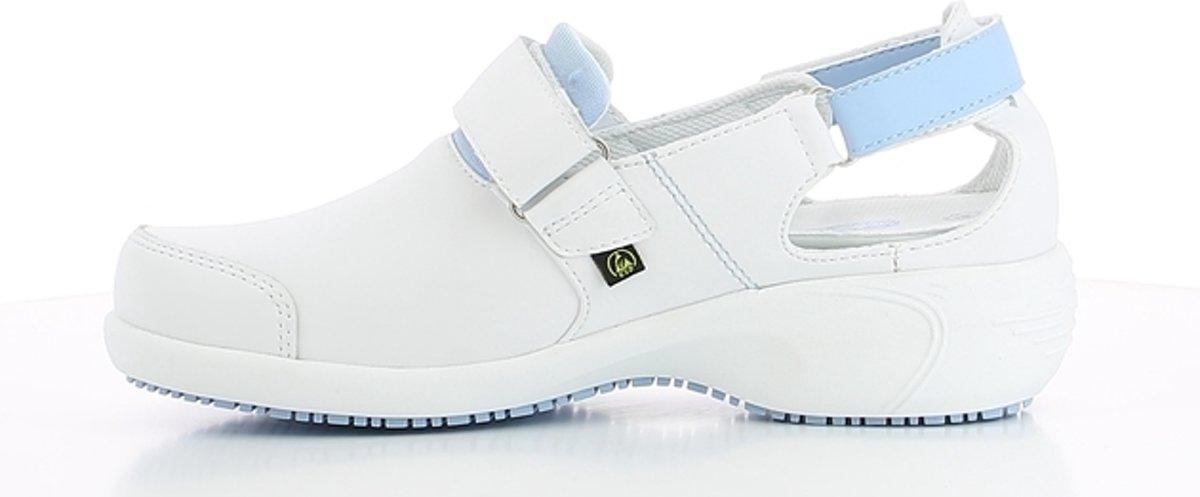 Oxypas Salma: Talon En Cuir De Chaussures Élégantes Et Confortables - Taille 40 - Bleu IcheMi