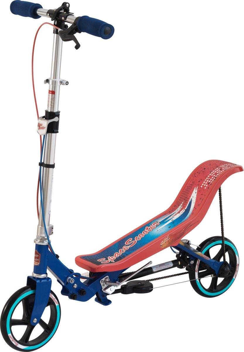 Space Scooter Step Blauw en Rood