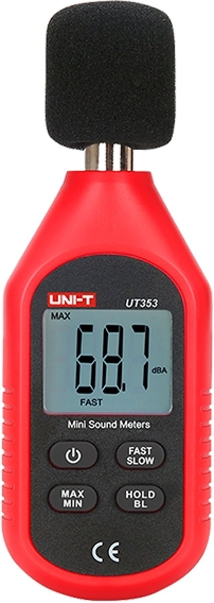 Decibel Meter 130dB - UT353 Rood kopen