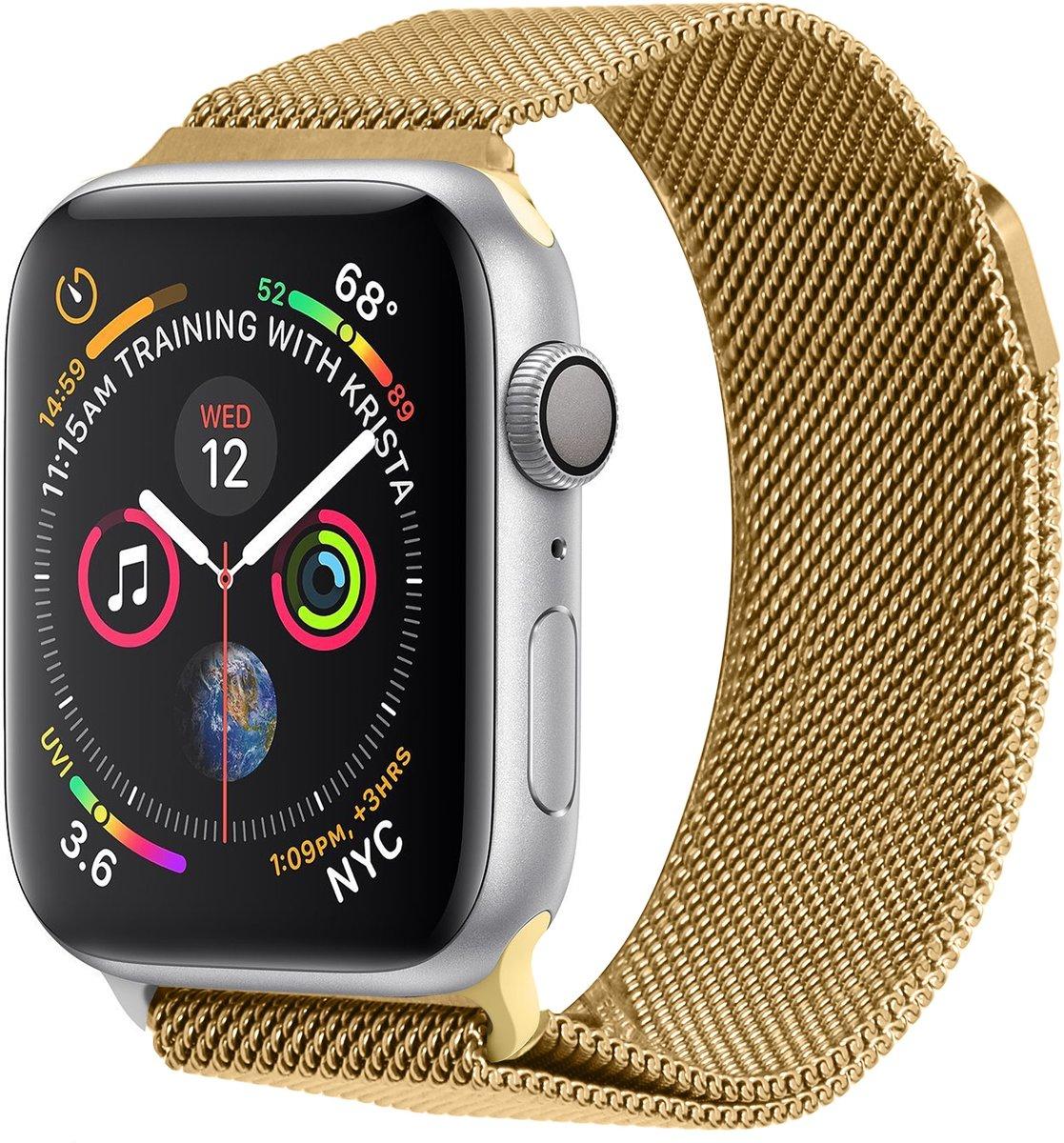 Gouden Milanese design watch band voor de Apple Watch 40 / 38 mm kopen