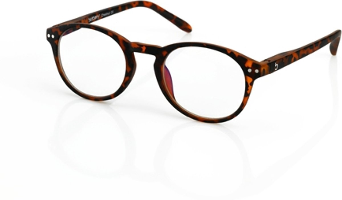 Foto van Blueberry Glasses Leesbril Retro havanna +1.0