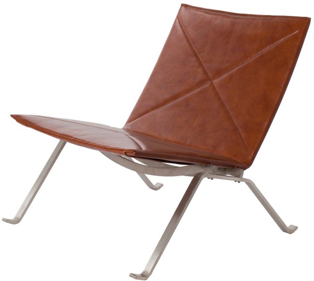 lounge stoel PK22 cognac kopen