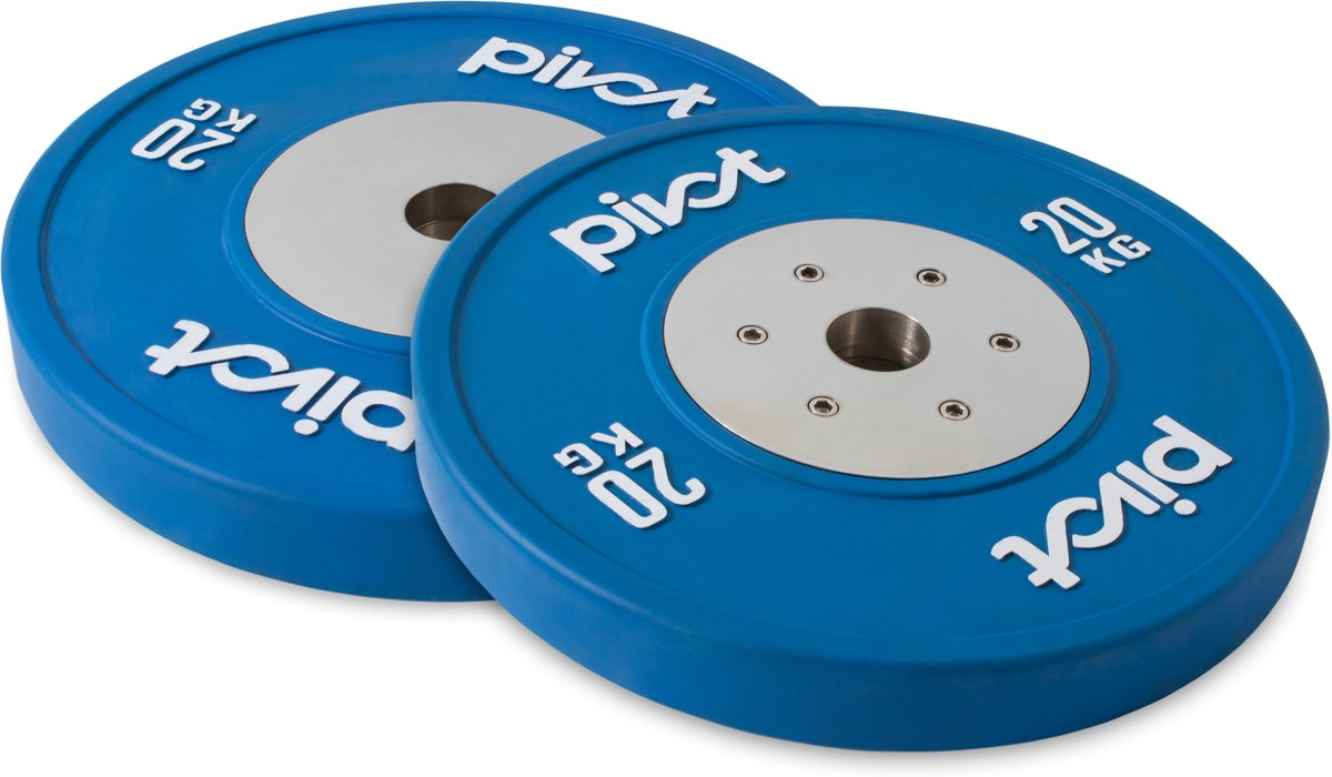 Pivot Fitness Elite Competition Bumper Plate Set 20kg kopen