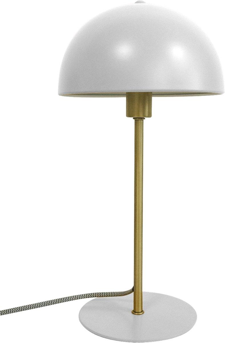 Grijs zilver tafellamp Leitmotiv Bonnet