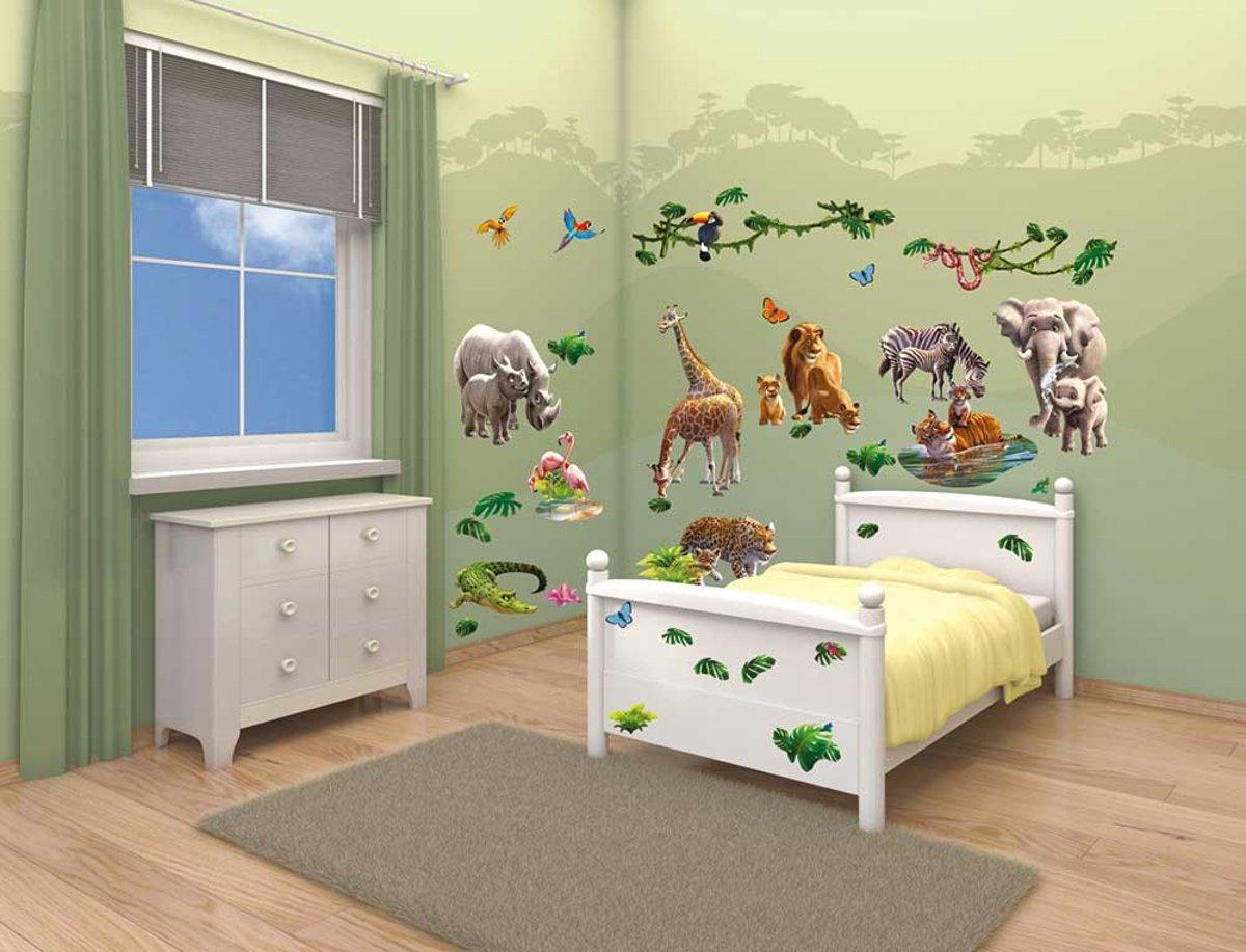 Verrassende Kinderkamer Paarden : Bol.com walltastic muursticker box jungle 54 stickers