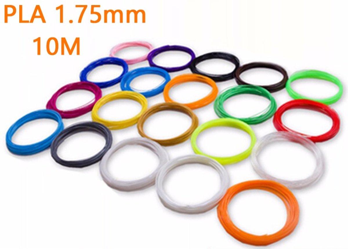 Filamenten/Vullingen voor 3D Printer Pen (120 meter, 12 kleuren elk 10m, 1.75mm PLA)