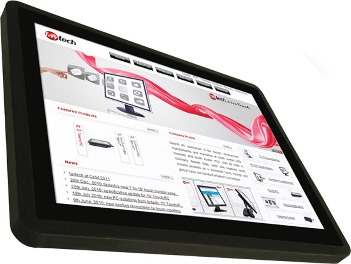faytech FT15TMBCAP 15'' 1920 x 1200Pixels Multi-touch Tafelblad Zwart touch screen-monitor