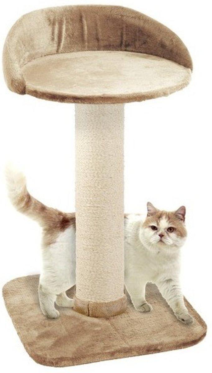 Karlie Big Cat 2 Krabpaal - Beige - 56 x 56 x 95 cm