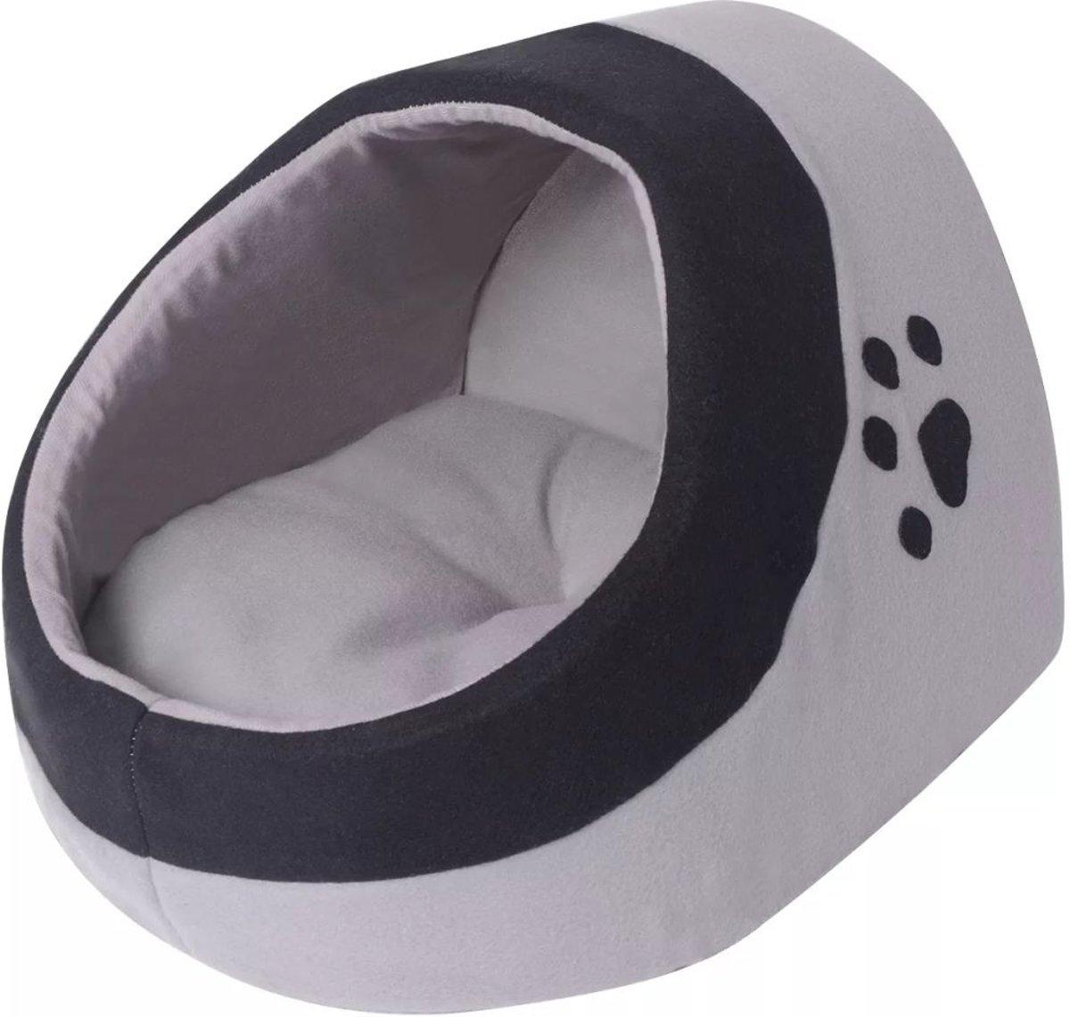 vidaXL Kussen voor katten grijs en zwart XL