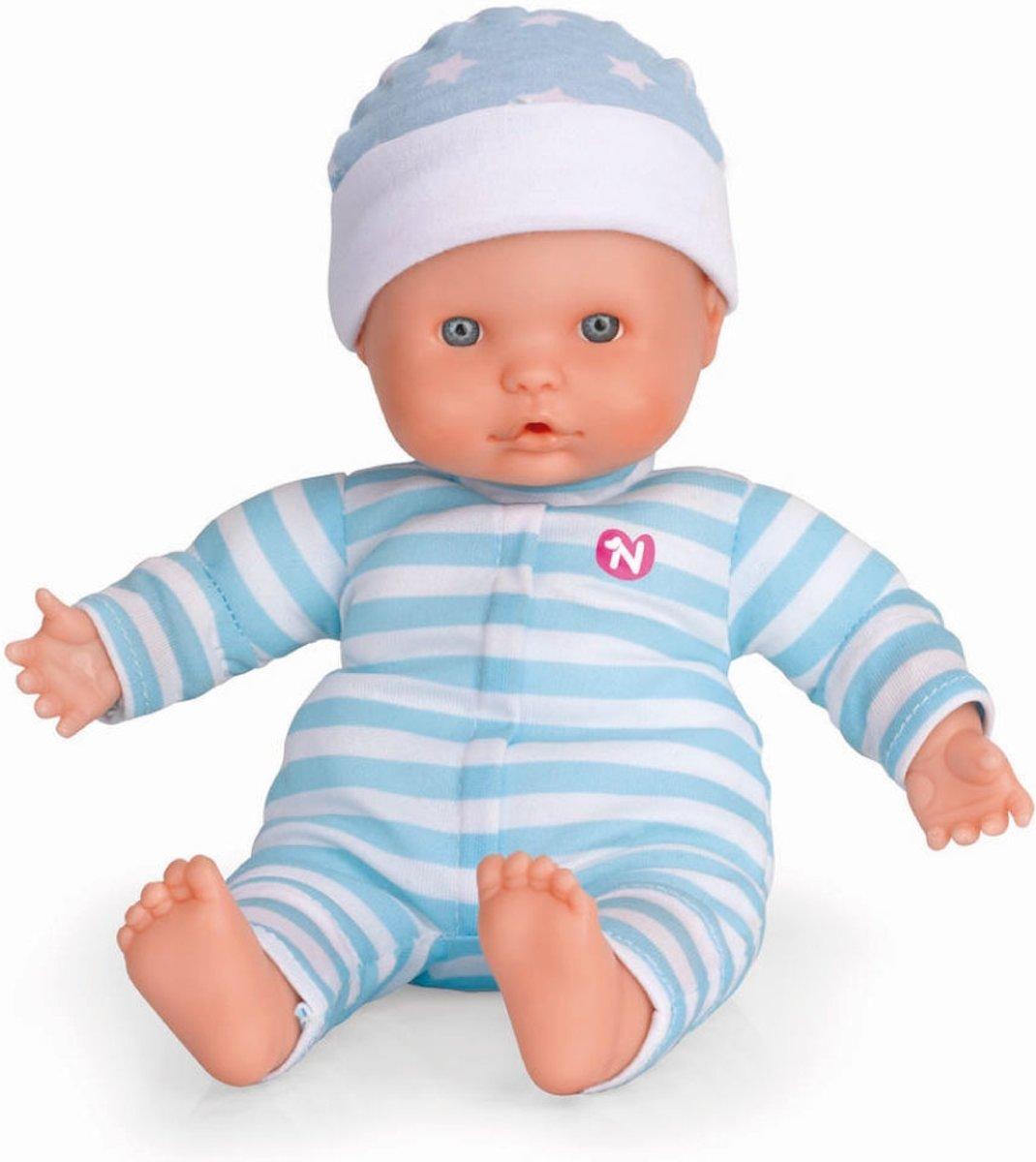 Nenuco soft babypop 30cm 5 geluidjes blauw