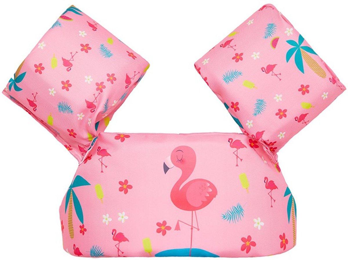 Zwemvest kinderen - flamingo | 2 - 6 jaar | 15 - 25kg | Veilig zwemmen | Zwemband | Reddingsvest | Kidzstore.eu