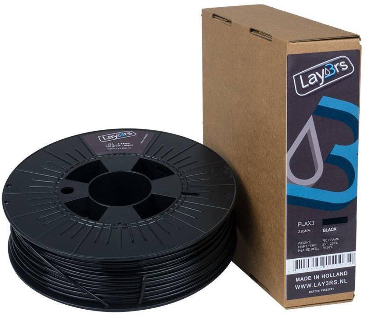 Lay3rs PLA X3 Black - 2.85 mm