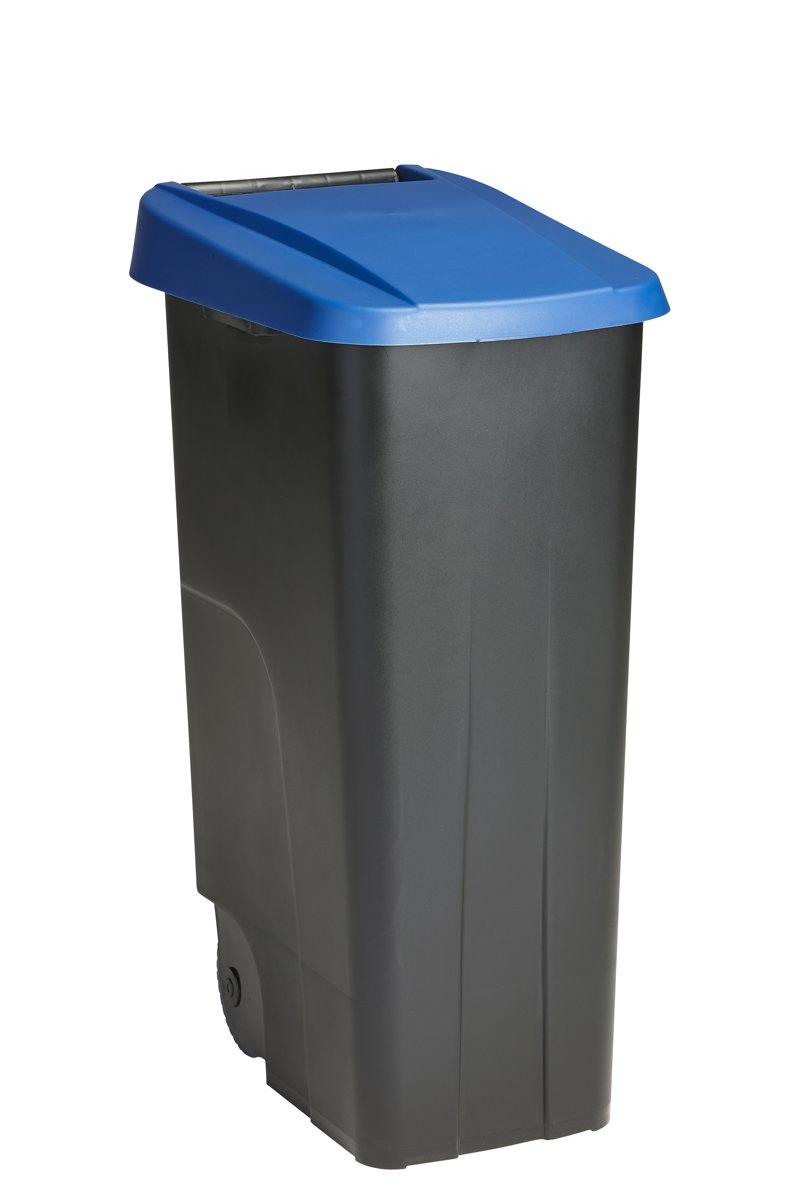 Basic Vuilnisbak 110 ltr zwart/blauw