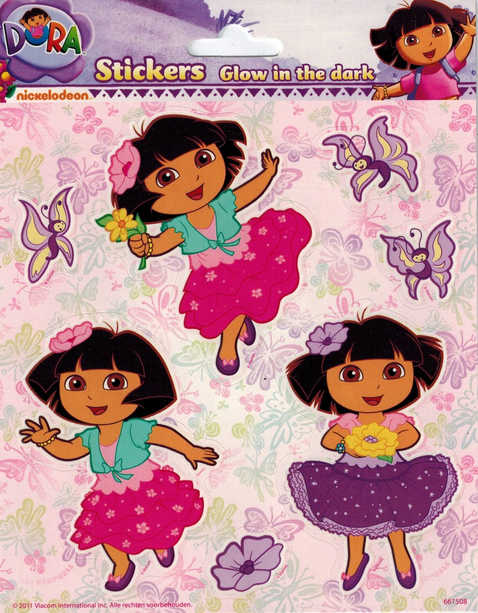Dora Stickers Glow in the dark